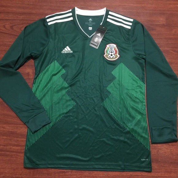 68b3d860b adidas Shirts | Mexico Long Sleeve Home Jersey 2018 Fifa World Cup ...